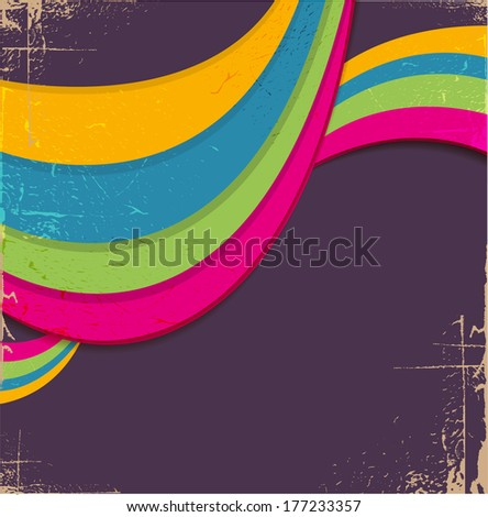 Abstract colorful retro lines