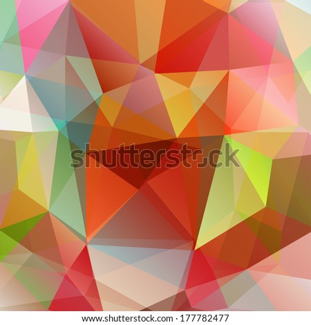 Abstract colorful vector triangle background, EPS10