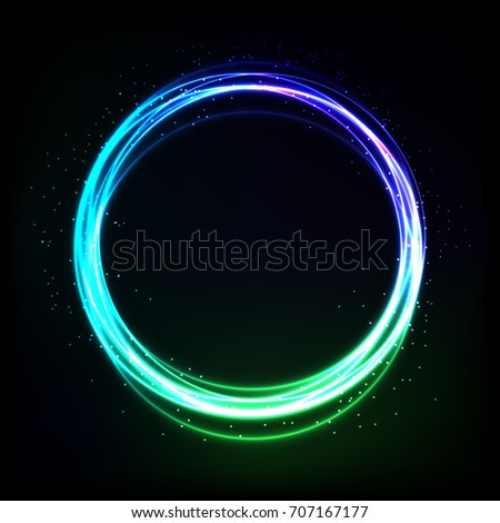 Neon Circle Transparent #2: stock vector abstract colorfull shiny ring