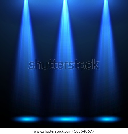 Abstract concept blue light background. Vector illustration