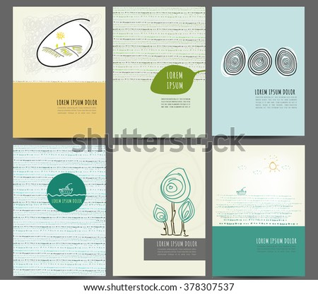Abstract Creative concept vector multicolored background set, for brochure design.