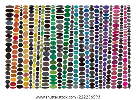 Halftone Moire Seamless Vector Wallpaper All Stock Vector