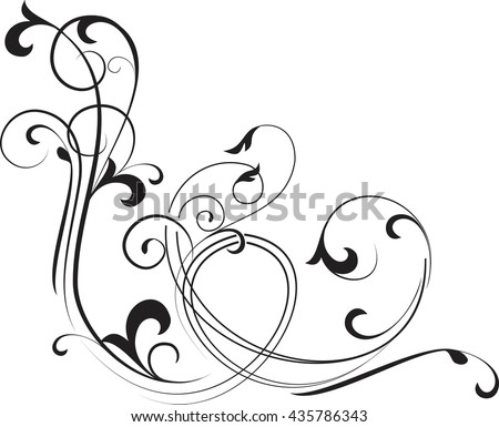 Abstract curve background. Decorative corner. Vector illustration.