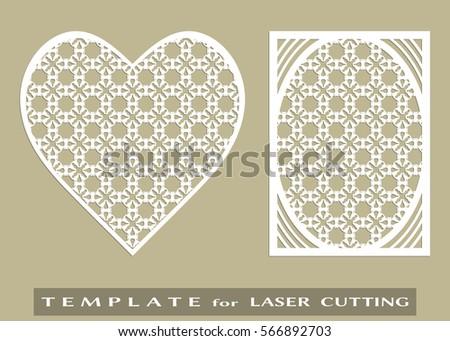 Vector Die Laser Cut Envelope Template Stock Vector 439914649 Shutterstock