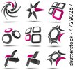 Abstract 3d vector icons such logos. - stock photo