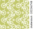 Abstract decorative  bicycles traffic background. Seamless pattern. Vector. - stock vector