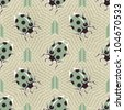 Abstract decorative ladybugs. Seamless pattern. Vector. - stock vector