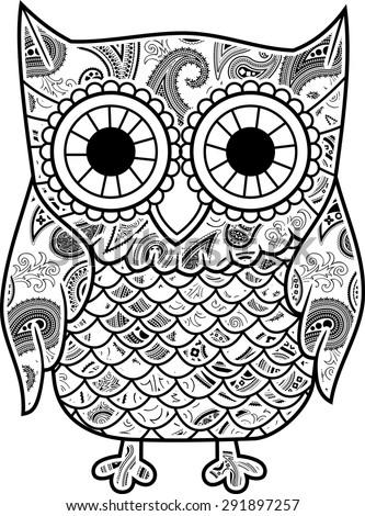 Happy Baby Owl Cartoon Wearing