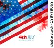 abstract design american independence day art - stock photo