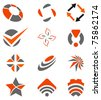 abstract design elements set - stock photo
