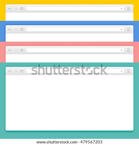 Abstract Design Vector Computer and Smartphone Browsers. Abstract Vector Browser Set. Vector Browser Image Set. Flat Vector Browser Set. Set of Applications Vector Browser.