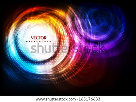 Abstract digital glowing background. Vector