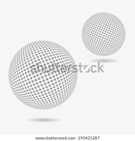 Abstract dotted spheres