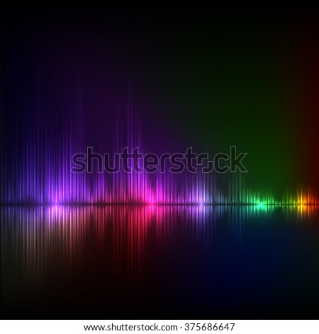 Abstract equalizer background. Colorful wave. EPS10 vector.