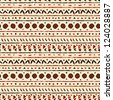 Abstract ethnic seamless pattern in style of primitive culture. Endless background - stock photo