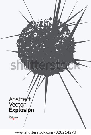 Abstract Explosion Design A4 A3 Format Stock Vector 328214174