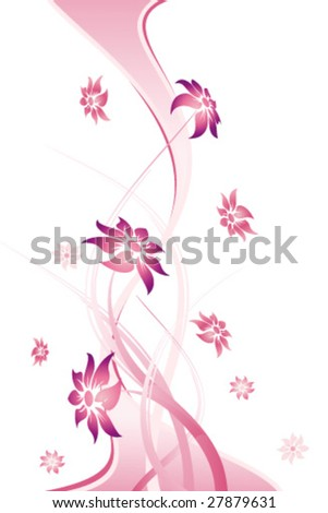 Abstract Floral Background. Vector illustration. Abstract Pattern.