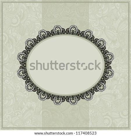 Abstract floral frame on seamless background