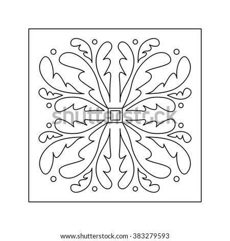 Abstract floral pattern. Decorative element.