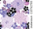 Abstract flower seamless pattern background - stock photo