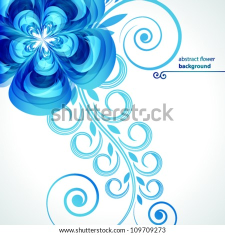 Abstract flower vector background cover template.