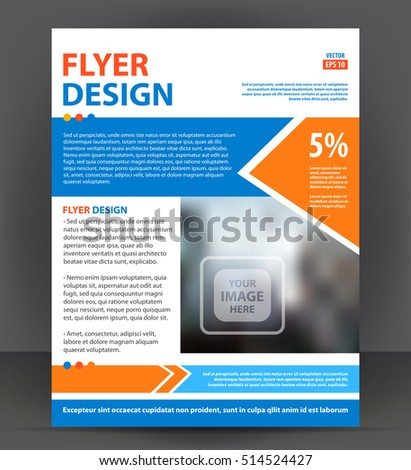 Business Template Poster Vector Business Flyer Stock Vector