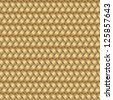 Abstract generated wicker pattern seamless mat background, vector illustration - stock photo