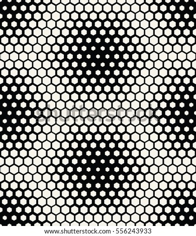 abstract geometric graphic seamless hexagon pattern background