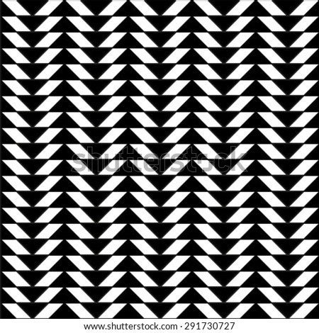 Abstract geometric seamless pattern. Black and white style pattern with triangle and lines.