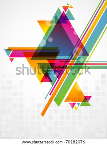 Abstract geometric shapes with transparencies. AI 10.