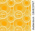 Abstract geometric summer seamless pattern with circles - vector  - stock vector