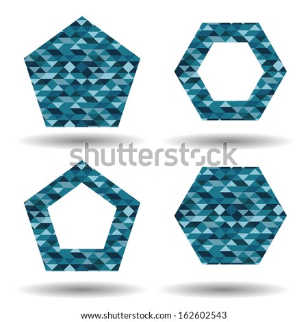 Abstract geometrical shapes