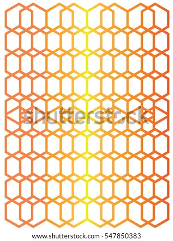 Abstract geometry  grid pattern in red, orange and yellow color