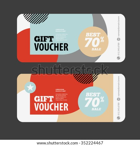 Abstract Gift Voucher Coupon Design Template Vector – Coupon Flyer Template