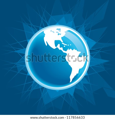 Abstract global earth background