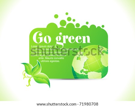 abstract go green icon vector illustration