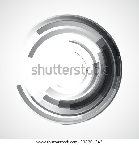 abstract gray circle style stripe pattern