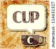 Abstract grunge illustration of utensil - pitcher - stock