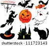 Abstract Halloween symbols - stock vector