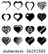 Abstract Heart. Set of Vector Illustrations. - stock vector