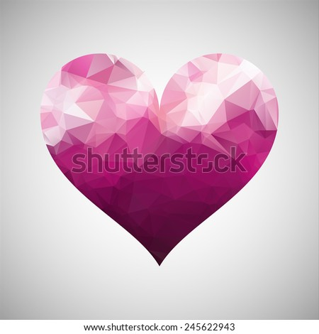 abstract heart triangles pattern