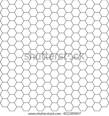 Black White Hexagon Honeycomb Pattern Background Stock ...