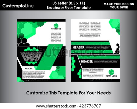 Business flyer design broshure cover template stock vector for Letter size brochure template