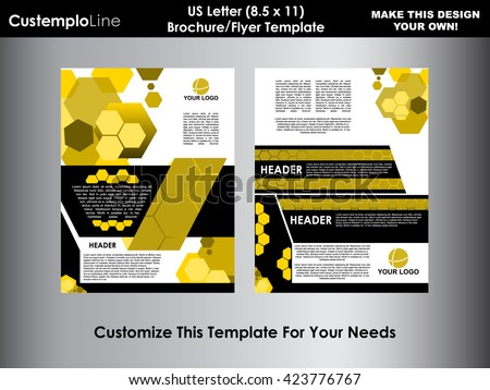 Brochure business booklet cover template editable stock for Letter size brochure template