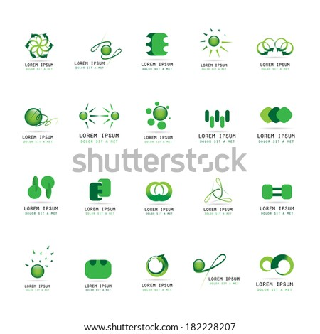 Abstract Icons Set - Isolated On White Background - Vector Illustration, Graphic Design Editable For Your Design