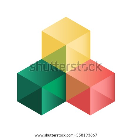 abstract isometric cubes for design. vector eps10