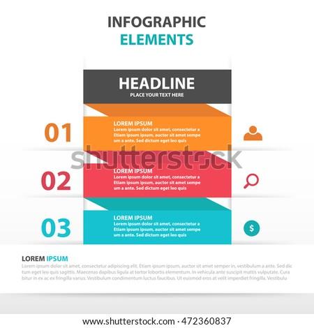 "sada ""colorful simple shape infographic "" uživatele newducks ve, Templates"