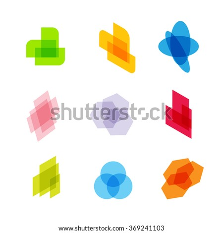 Abstract logos for business IT, Digital, Internet. The basis for corporate identity