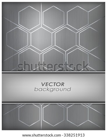 Abstract metal background with cells