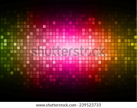 abstract mosaic pink yellow green background with gloss